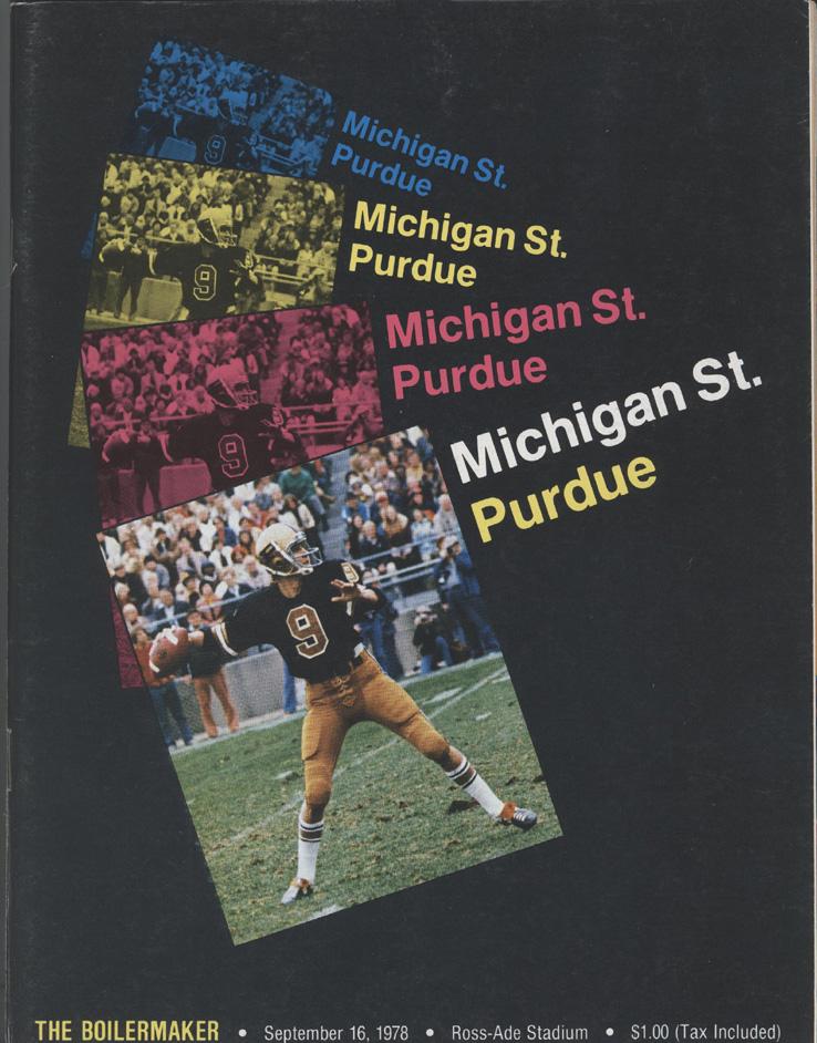 1978 Michigan State vs Purdue Football Game Program | eBay